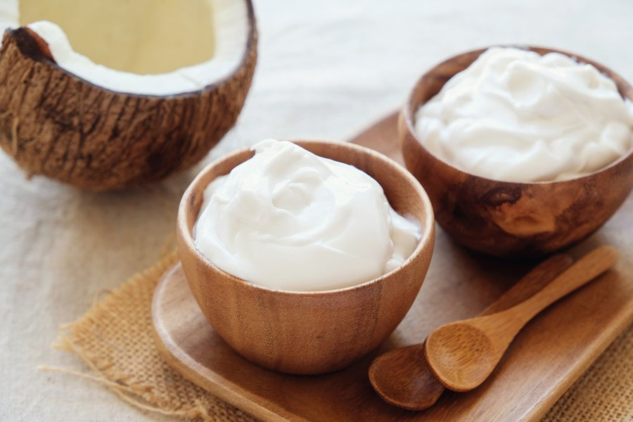 yogur de coco vegano receta